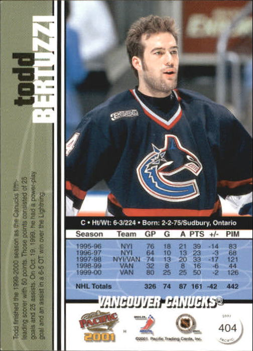2000-01-Pacific-Hockey-Cards-251-450-Pick-From-List thumbnail 211