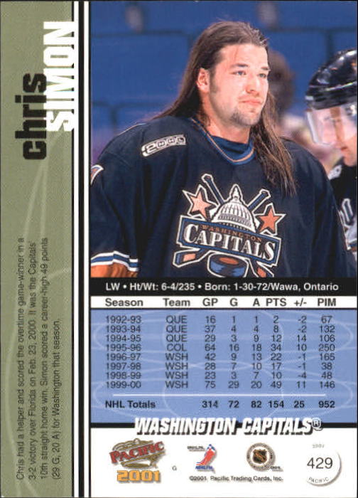 2000-01-Pacific-Hockey-Cards-251-450-Pick-From-List thumbnail 247