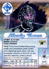 2000-01 Private Stock #117 Marty Turco RC back image