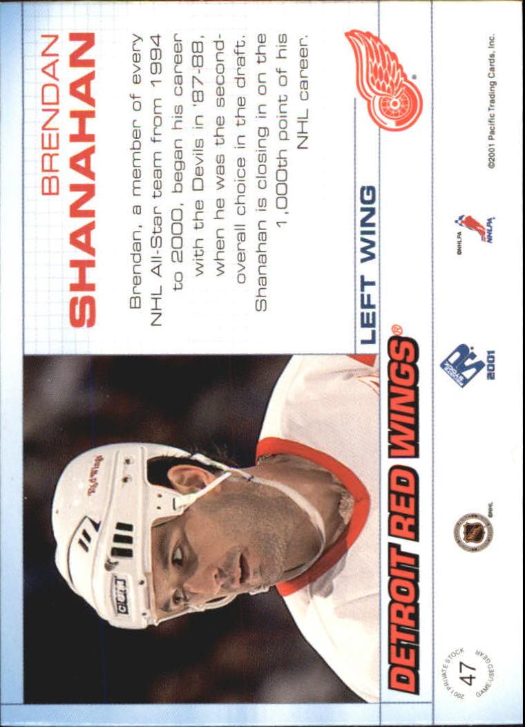 2000-01 Private Stock Game Gear #47 Brendan Shanahan J back image