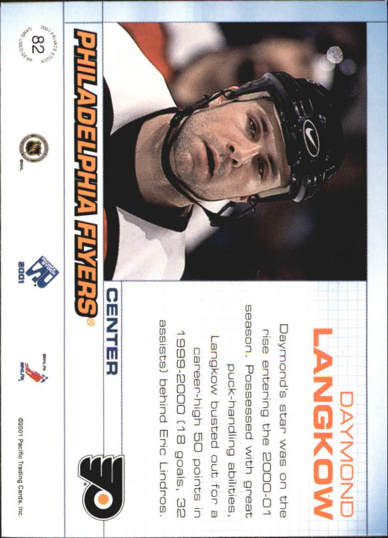 2000-01 Private Stock Game Gear #82 Daymond Langkow J back image