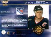 2000-01 Revolution Game-Worn Jerseys #8 Brian Leetch back image