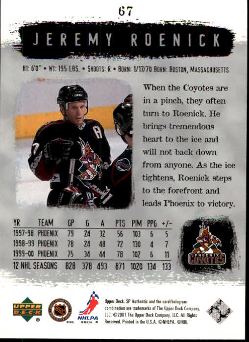 2000-01-SP-Authentic-Hockey-Cards-Pick-From-List