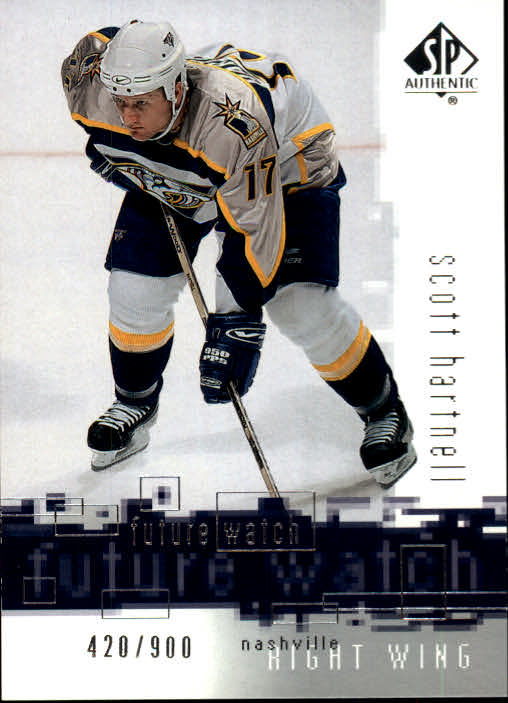 2000-01 SP Authentic #112 Scott Hartnell RC