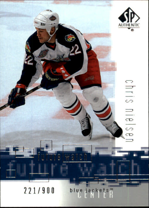 2000-01 SP Authentic #141 Chris Nielsen RC
