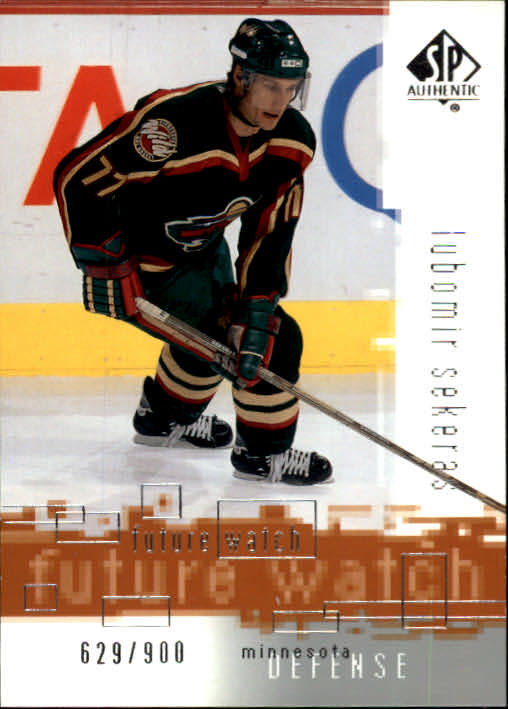 2000-01 SP Authentic #147 Lubomir Sekeras RC