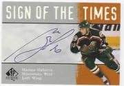 2000-01 SP Authentic Sign of the Times #MG Marian Gaborik