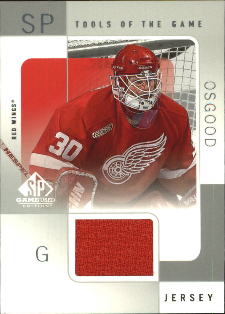 2000-01 SP Game Used Tools of the Game #CO Chris Osgood