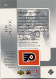2000-01 SP Game Used Tools of the Game Exclusives #EL Eric Lindros back image