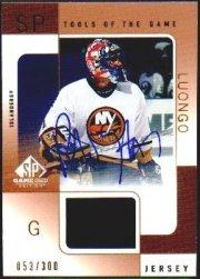 2000-01 SP Game Used Tools of the Game Autographed Bronze #ARL Roberto Luongo