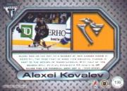 2000-01 Titanium Game Gear #135 Alexei Kovalev back image