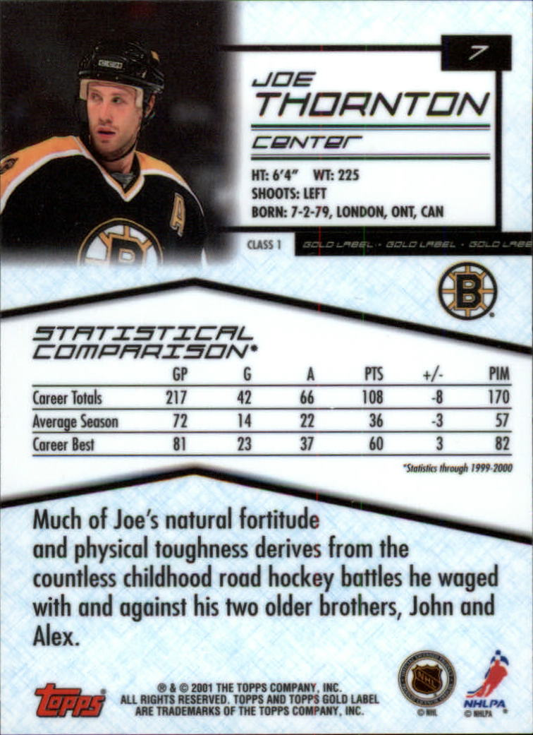 2000-01-Topps-Gold-Label-Class-1-Hockey-1-100-Your-Choice-GOTBASEBALLCARDS thumbnail 13