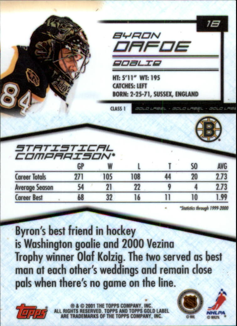 2000-01-Topps-Gold-Label-Class-1-Hockey-1-100-Your-Choice-GOTBASEBALLCARDS thumbnail 33
