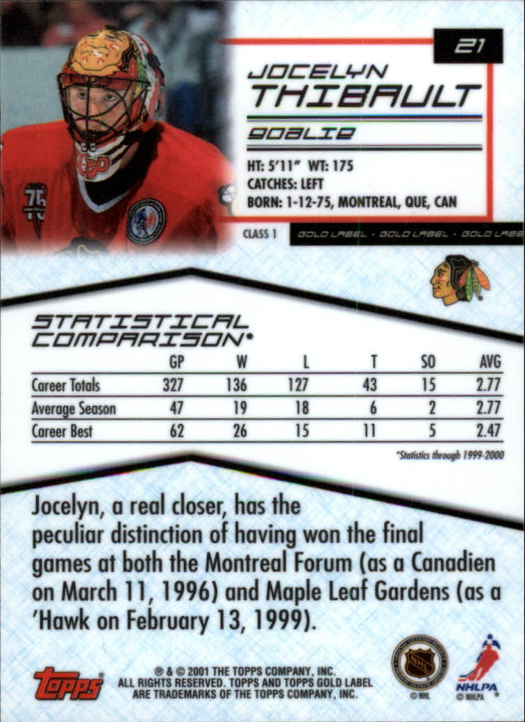 2000-01-Topps-Gold-Label-Class-1-Hockey-1-100-Your-Choice-GOTBASEBALLCARDS thumbnail 39