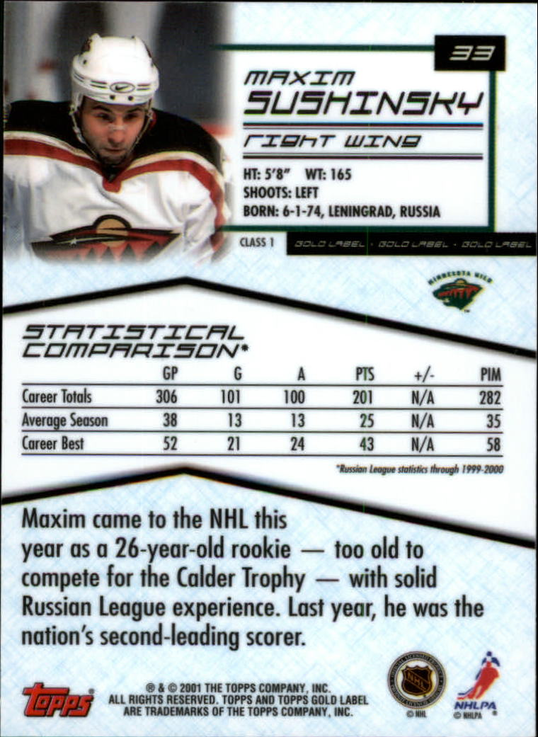 2000-01-Topps-Gold-Label-Class-1-Hockey-1-100-Your-Choice-GOTBASEBALLCARDS thumbnail 61