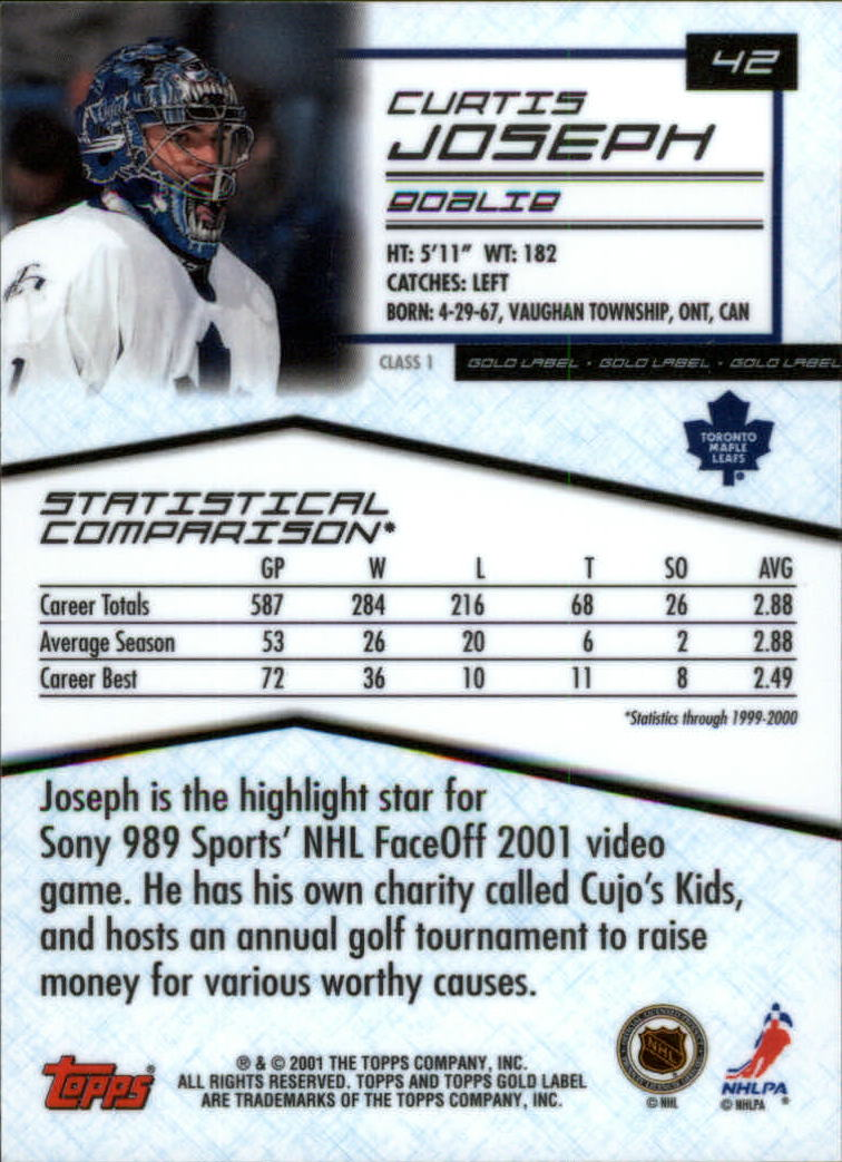 2000-01-Topps-Gold-Label-Class-1-Hockey-1-100-Your-Choice-GOTBASEBALLCARDS thumbnail 75