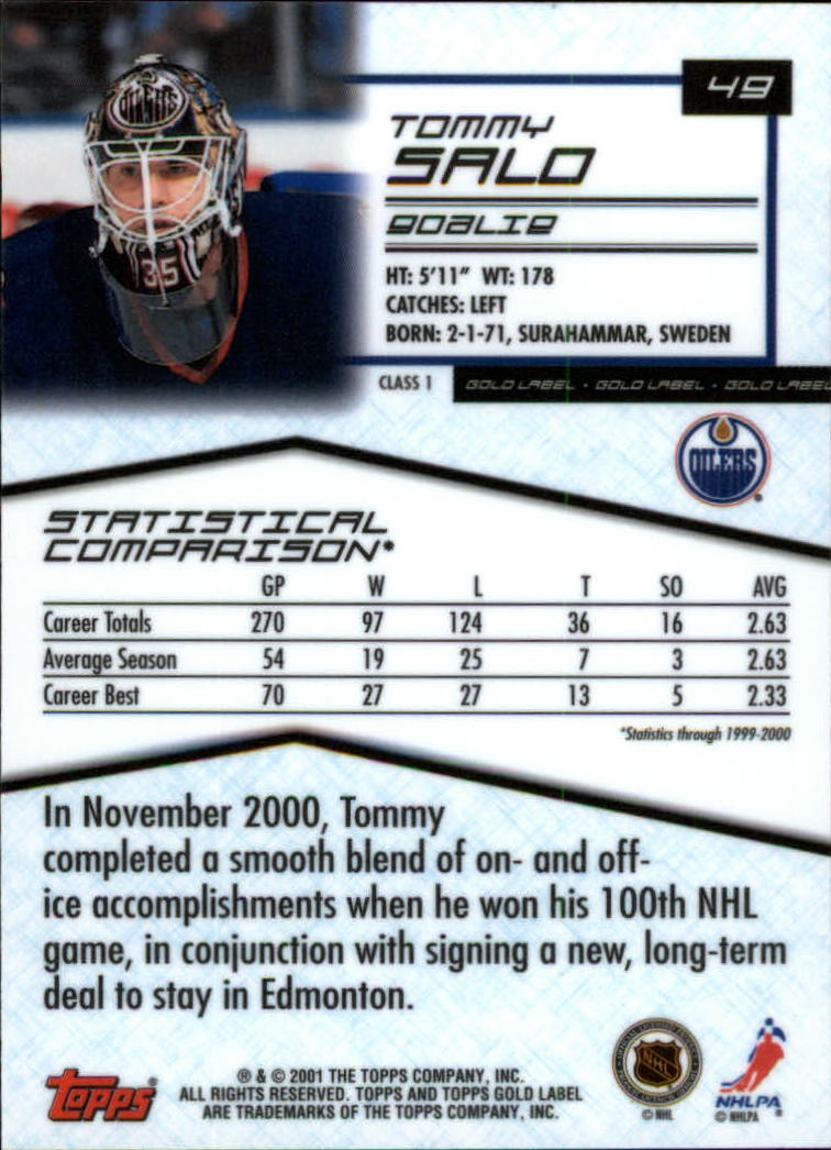 2000-01-Topps-Gold-Label-Class-1-Hockey-1-100-Your-Choice-GOTBASEBALLCARDS thumbnail 87