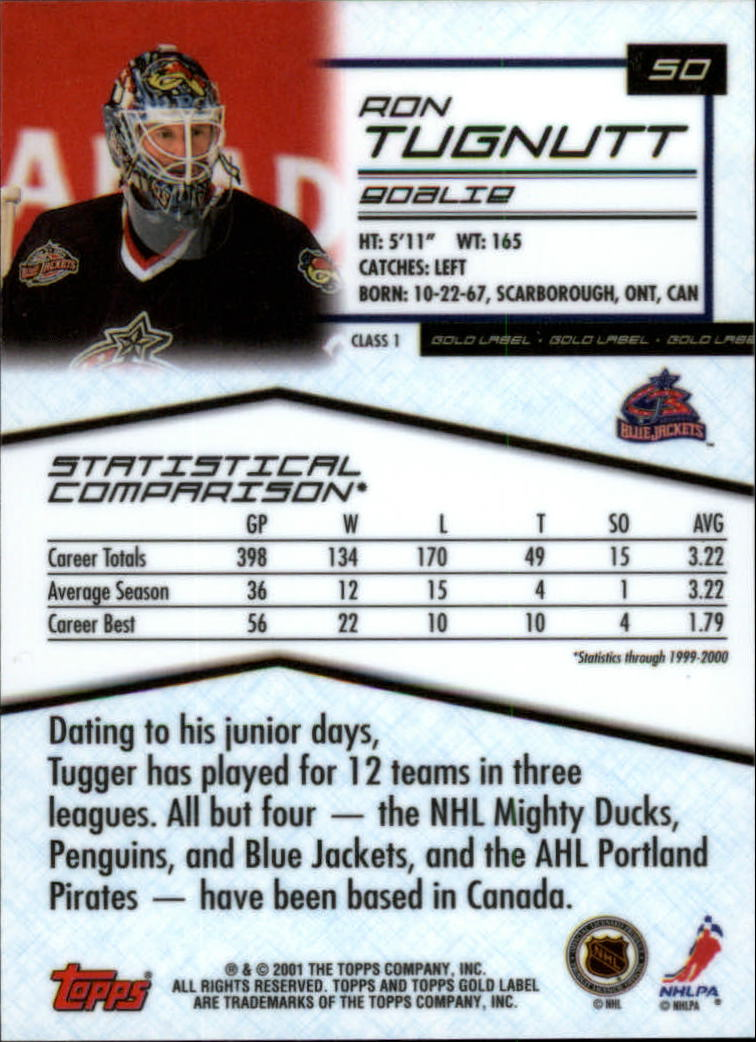 2000-01-Topps-Gold-Label-Class-1-Hockey-1-100-Your-Choice-GOTBASEBALLCARDS thumbnail 89