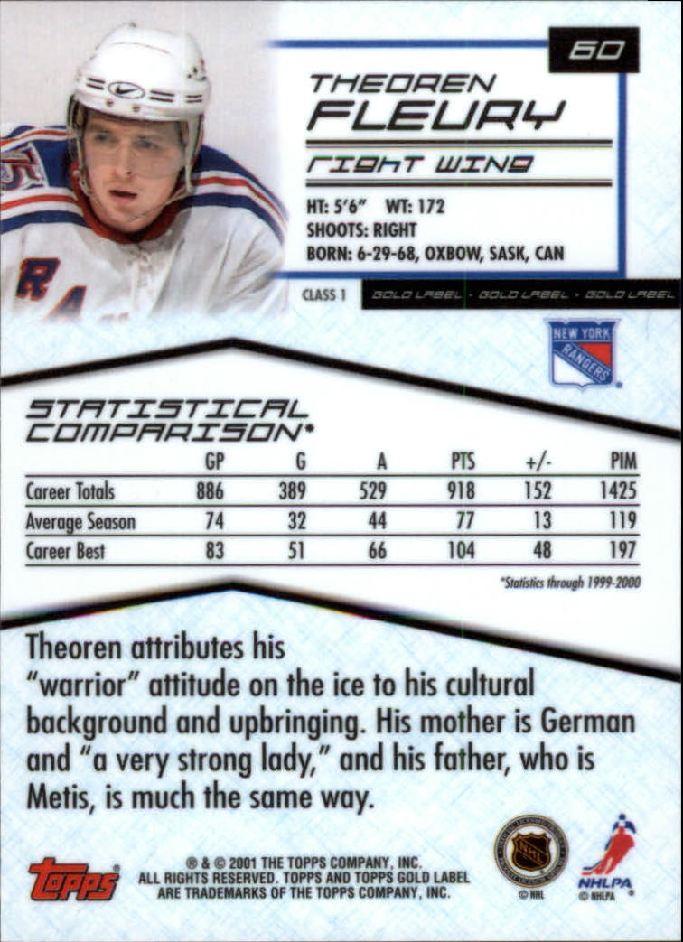2000-01-Topps-Gold-Label-Class-1-Hockey-1-100-Your-Choice-GOTBASEBALLCARDS thumbnail 105
