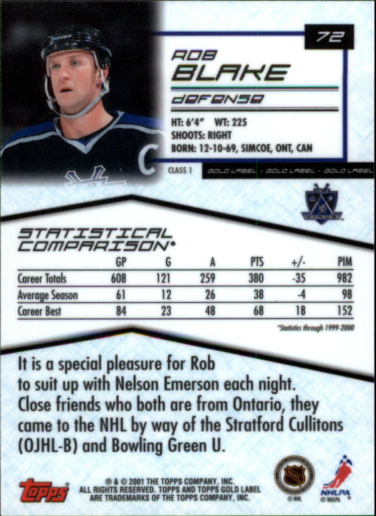 2000-01-Topps-Gold-Label-Class-1-Hockey-1-100-Your-Choice-GOTBASEBALLCARDS thumbnail 129