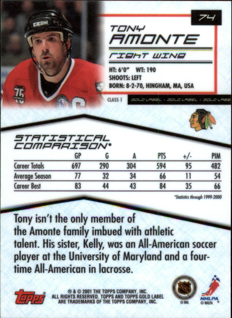 2000-01-Topps-Gold-Label-Class-1-Hockey-1-100-Your-Choice-GOTBASEBALLCARDS thumbnail 133