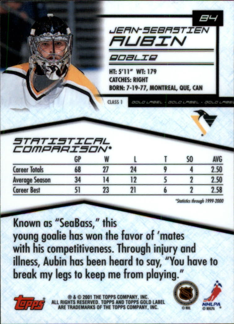2000-01-Topps-Gold-Label-Class-1-Hockey-1-100-Your-Choice-GOTBASEBALLCARDS thumbnail 153