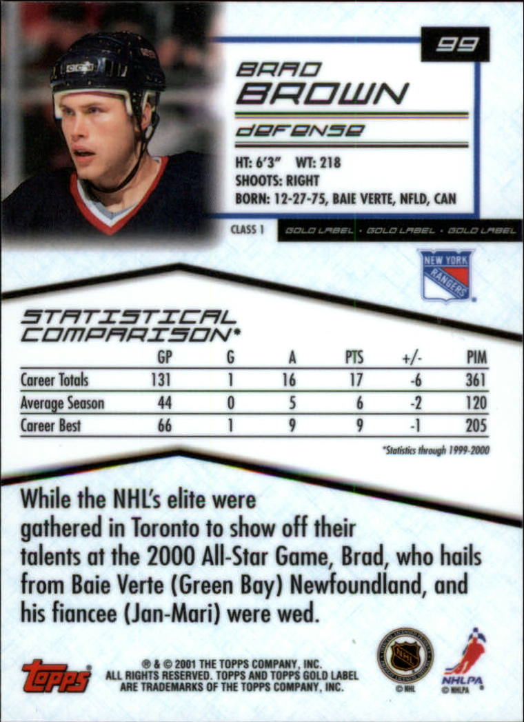 2000-01-Topps-Gold-Label-Class-1-Hockey-1-100-Your-Choice-GOTBASEBALLCARDS thumbnail 183