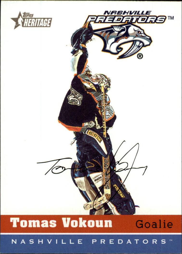 2000-01 Topps Heritage #212 Tomas Vokoun