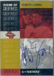 2000-01 Upper Deck Heroes Signs of Greatness #RL Roberto Luongo