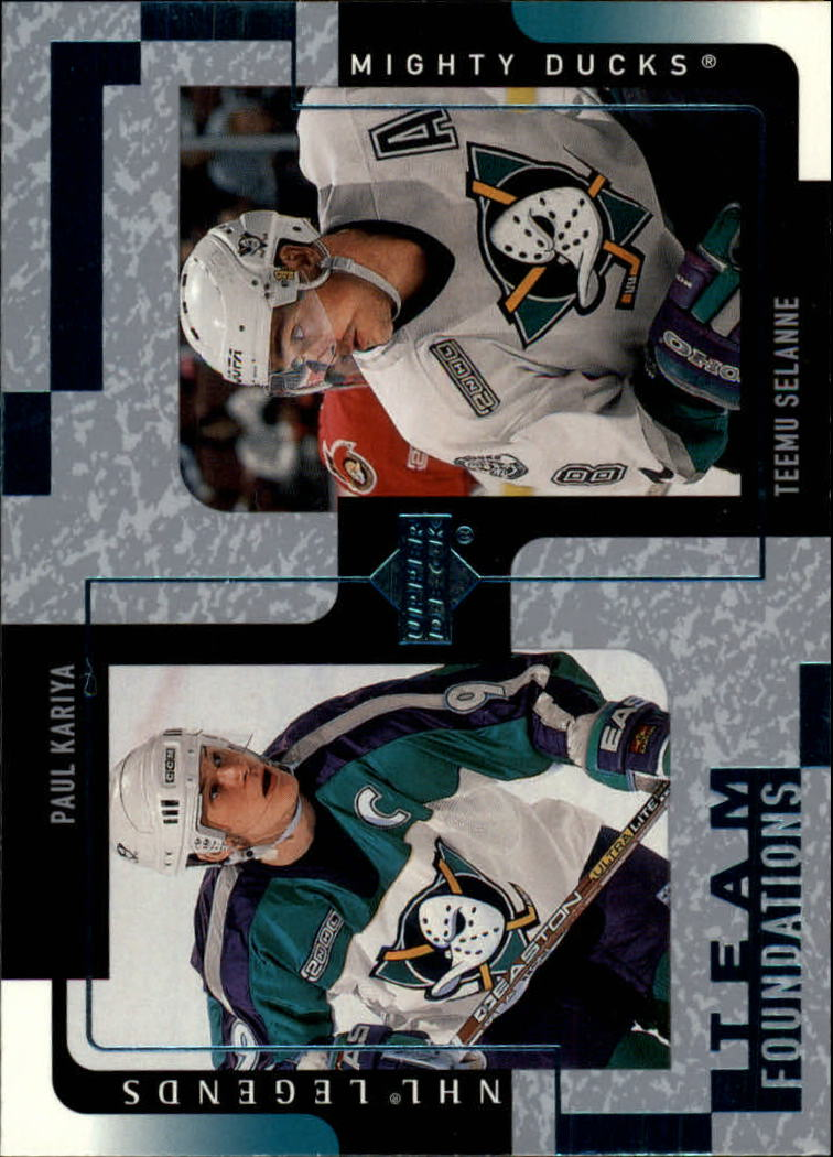2000-01 Upper Deck Legends #3 Paul Kariya/Teemu Selanne