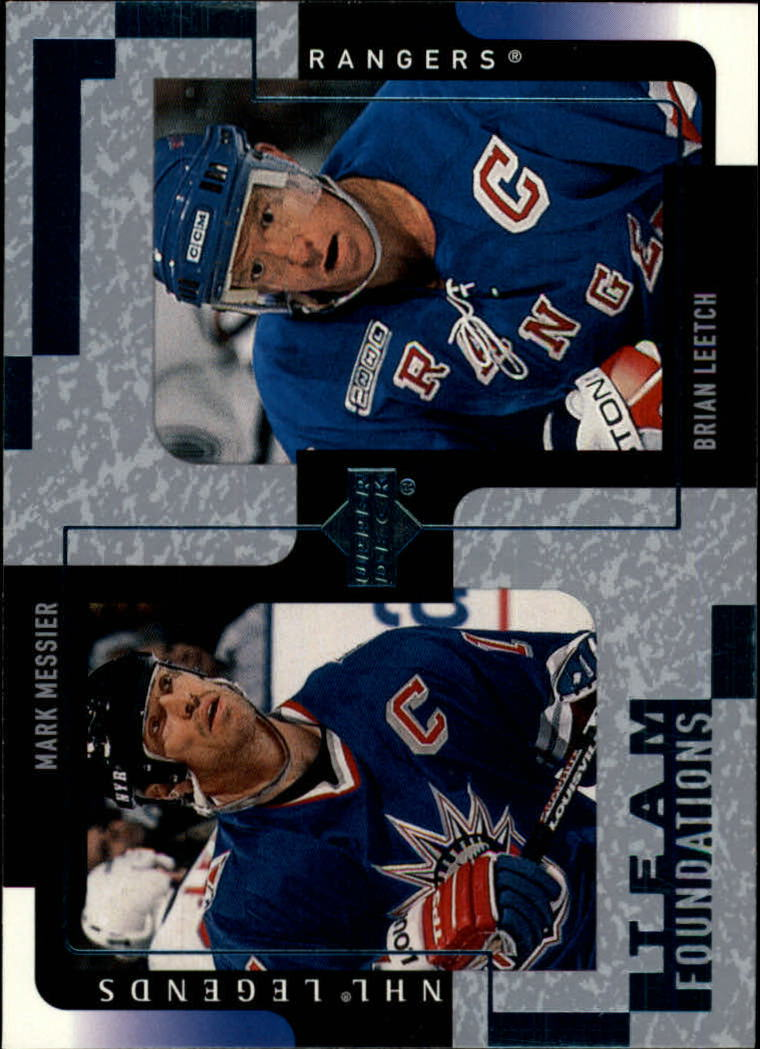 2000-01 Upper Deck Legends #92 Mark Messier/Brian Leetch