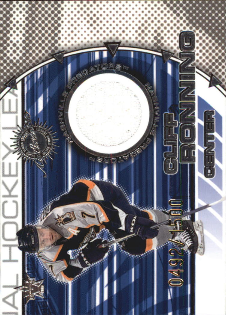 2000-01 Vanguard Dual Game-Worn Jerseys #11 Cliff Ronning/Vitali Yachmenev/1500