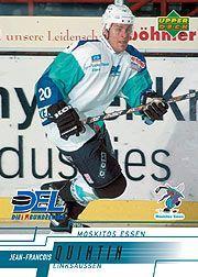 2000-01 German DEL Upper Deck #163 Jean-Francois Quintin