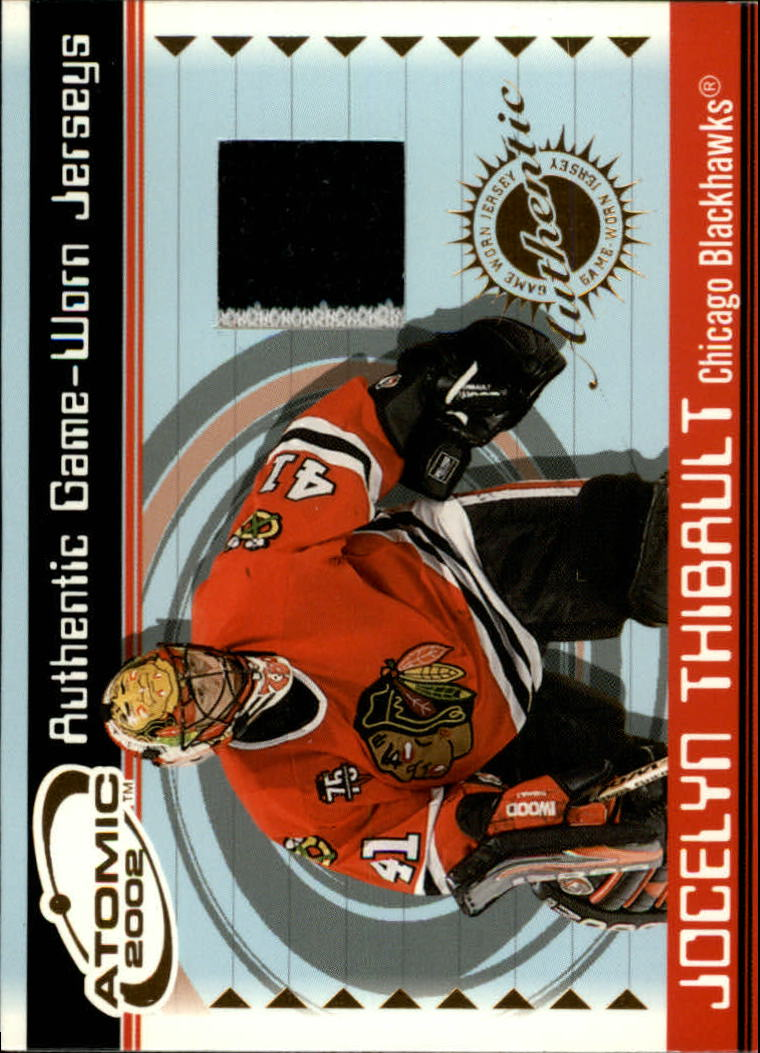 2001-02 Atomic Jerseys #10 Jocelyn Thibault