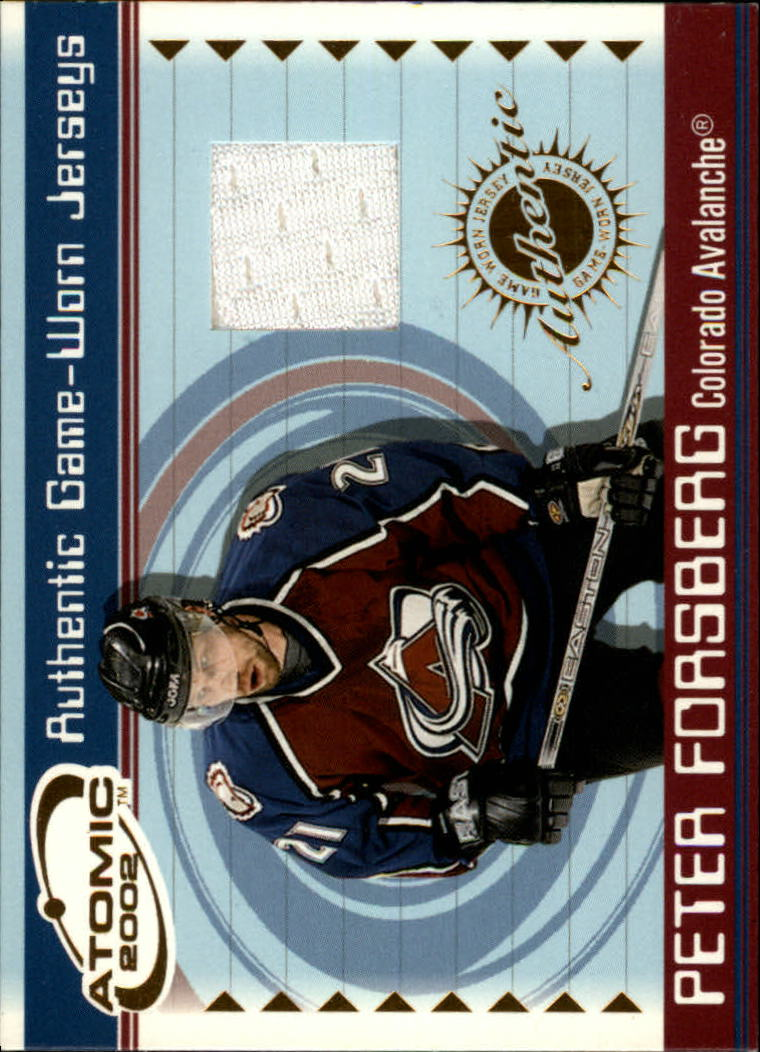 2001-02 Atomic Jerseys #11 Peter Forsberg