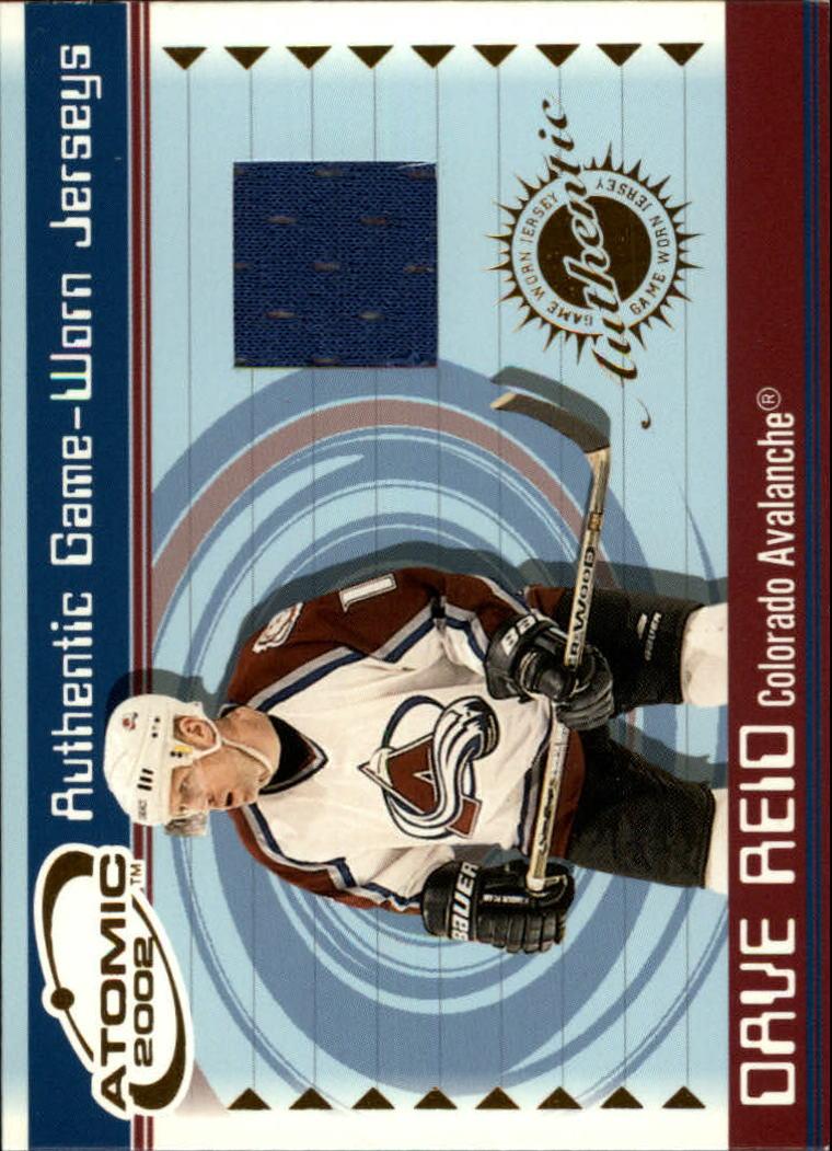 2001-02 Atomic Jerseys #12 Dave Reid