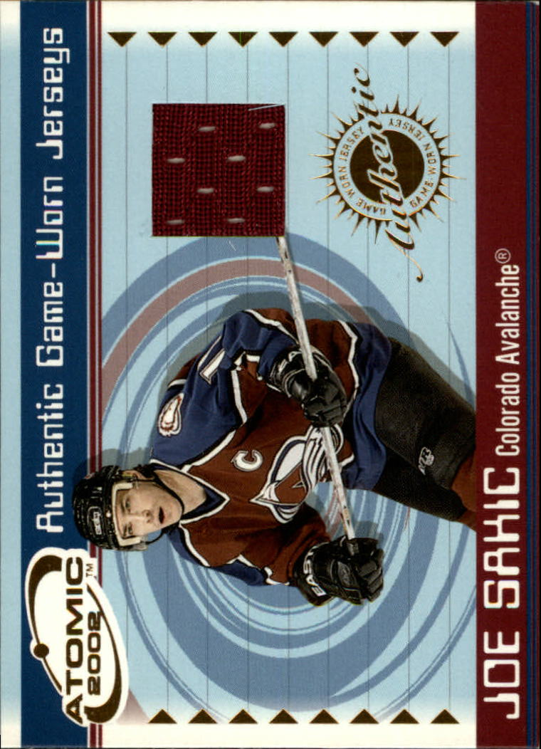 2001-02 Atomic Jerseys #14 Joe Sakic
