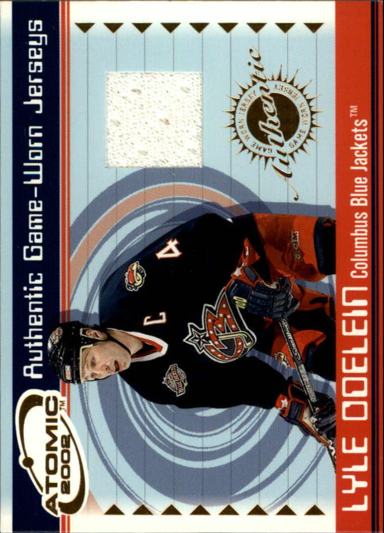 2001-02 Atomic Jerseys #15 Lyle Odelein