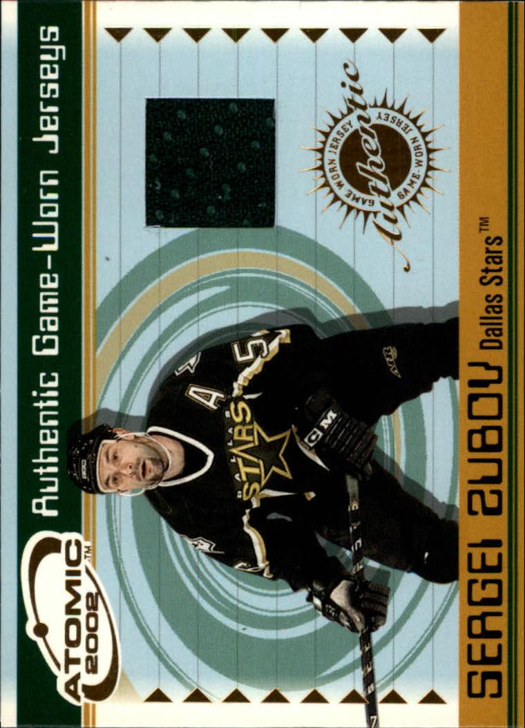 2001-02 Atomic Jerseys #20 Sergei Zubov