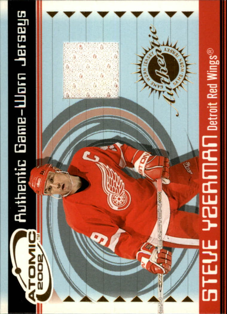 2001-02 Atomic Jerseys #26 Steve Yzerman