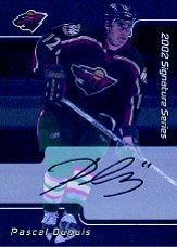 2001-02 BAP Signature Series Autographs #236 Pascal Dupuis