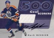 2001-02 BAP Signature Series 500 Goal Scorers Autographs #25 Mark Messier