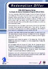 2001-02 BAP Signature Series He Shoots He Scores Points #16 Ilya Kovalchuk 2 pts. back image