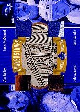 2001-02 BAP Ultimate Memorabilia Cornerstones #1 Ace Bailey/Johnny Bower/Lanny McDonald/Mats Sundin