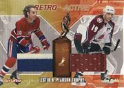 2001-02 BAP Ultimate Memorabilia Retro Trophies #20 Guy Lafleur/Joe Sakic/Lester B. Pearson Award