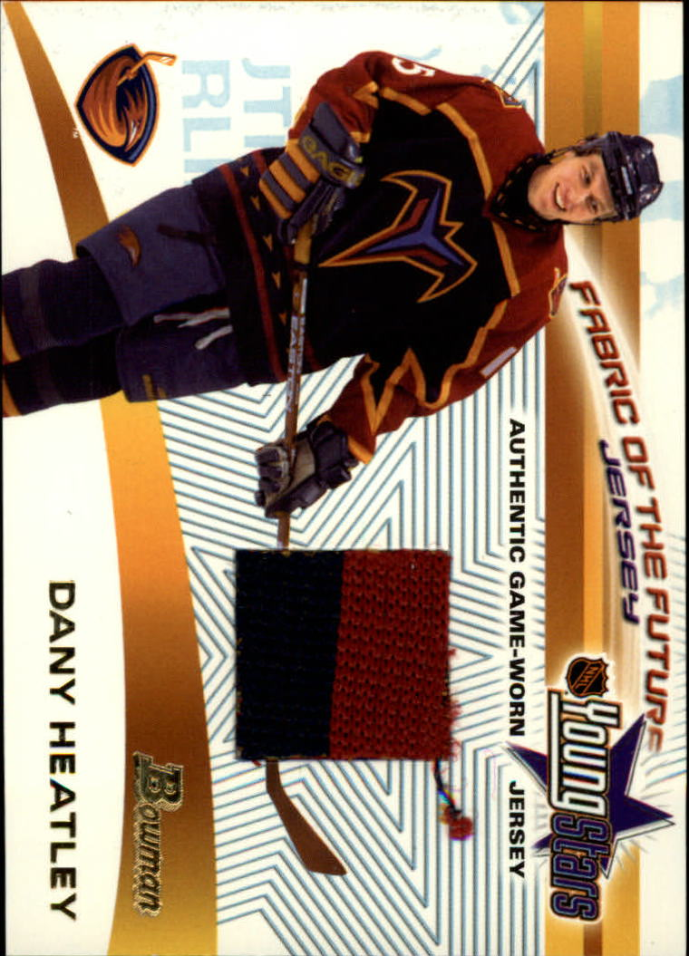 2001-02 Bowman YoungStars Relics #JDH Dany Heatley J