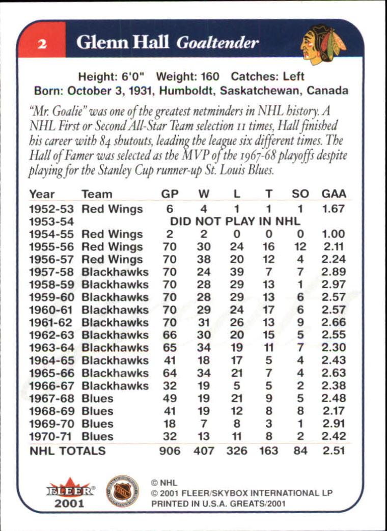 2001-02-Greats-of-the-Game-Hockey-1-100-Your-Choice-GOTBASEBALLCARDS thumbnail 5