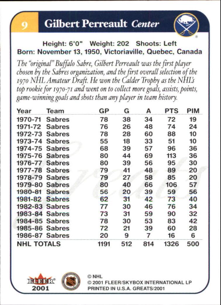 2001-02-Greats-of-the-Game-Hockey-1-100-Your-Choice-GOTBASEBALLCARDS thumbnail 13