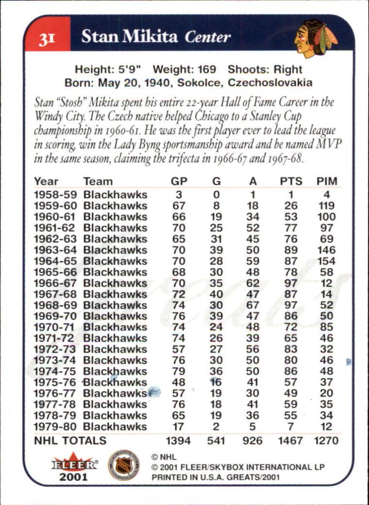 2001-02-Greats-of-the-Game-Hockey-1-100-Your-Choice-GOTBASEBALLCARDS thumbnail 47