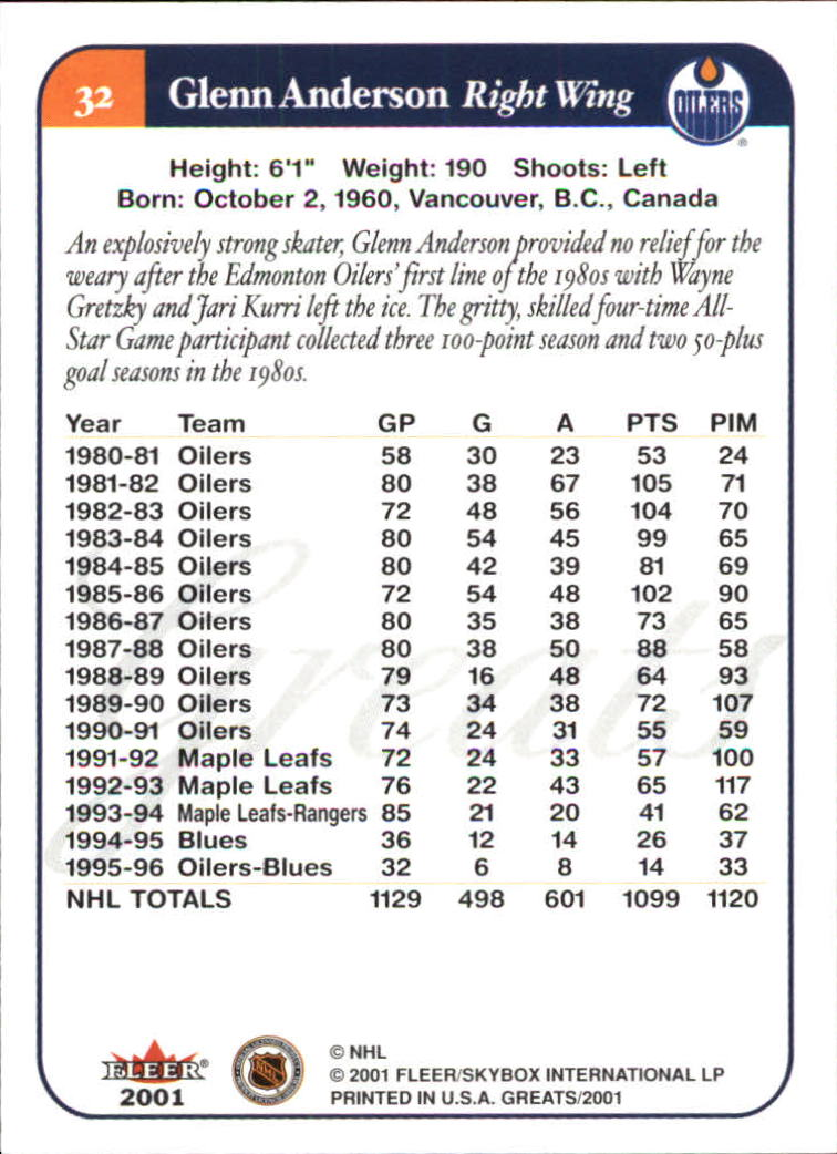 2001-02-Greats-of-the-Game-Hockey-1-100-Your-Choice-GOTBASEBALLCARDS thumbnail 49
